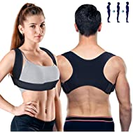 PORTHOLIC Posture Corrector for Men and Women 2 Mode Adjustable Upper Back Brace Posture Corrector for Clavicle Support Adjustable Back Straightener Pain Relief for Neck,Back and Shoulder