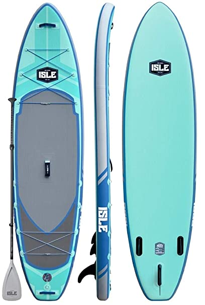 "ISLE Airtech Inflatable 11ft Explorer Stand Up Paddle Board (6"" Thick) iSUP Package"