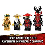 LEGO-Ninjago-Mech-Dorato-con-Katana-e-4-Minifigure-Lloyd-Wu-e-Generale-Kozu-Set-di-Costruzioni-Ricco-di-Dettagli-per-Ragazzi-8-Anni-71702