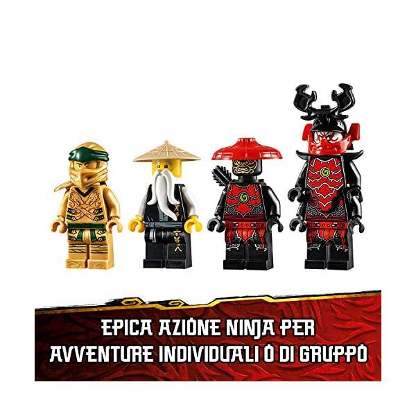 LEGO Ninjago Mech Dorato con Katana e 4 Minifigure: Lloyd, Wu e Generale Kozu, Set di Costruzioni Ricco di Dettagli per… 6 spesavip