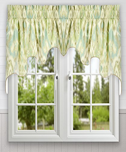 Ellis Curtain Terlina 100-by-30 Inch Lined 2-Piece Duchess Valance, Spa