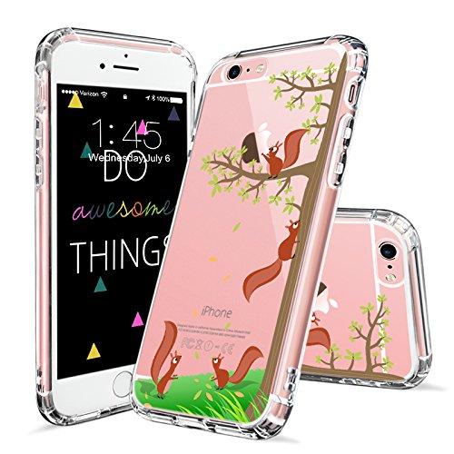 iPhone 6s Plus Case, iPhone 6 Plus Case Clear, MOSNOVO Cute Squirrel Pattern Clear Design Printed Transparent Plastic Hard with TPU Bumper Protective Case Cover for Apple iPhone 6/6s Plus (5.5 (Plus Squirrel)
