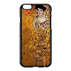 Portrait of Adele Bloch-Bauer by Gustav Klimt Black Hard Plastic Case for iphone 6 4.7 by Painting Masterpieces + FREE Crystal Clear Screen Protector