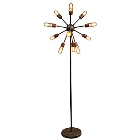 Warehouse of Tiffany LD5380 Marguirite 12-Light Antique Bronze 16-inch Edison Floor Lamp with Bulbs, 16