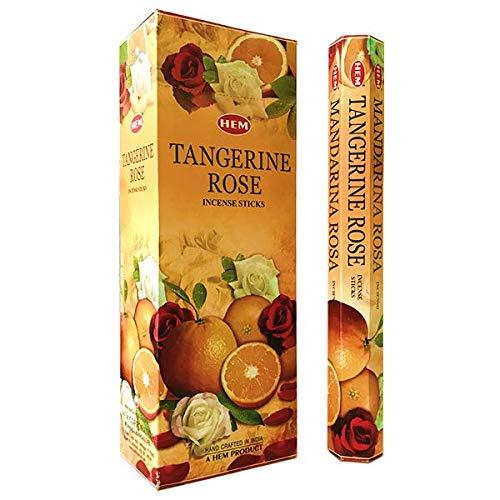 Hem Tangerine Rose 120 Incense Sticks Zen Aromatherapy