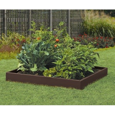 Suncast RB448H 46-Inch by 46-Inch by 5-1/2-Inch 4 Panel Resin Raised Garden Kit by Suncast