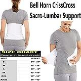 Bell-Horn CrissCross Lumbosacral Lower Back Support Brace, Small (Waist: 24'' - 30'')