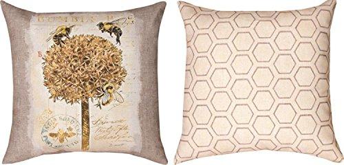 "18"" Natural Life Bumble Bee Printed Indoor/ Outdoor Decor..."