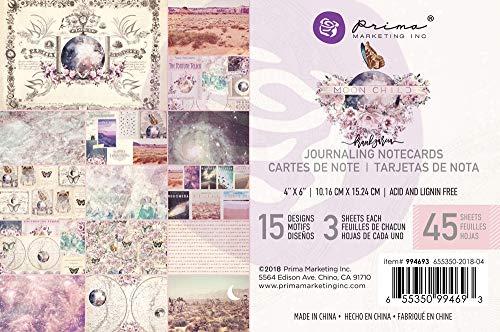 Prima Marketing 994693 Moon Child Journaling Cards Pad 4