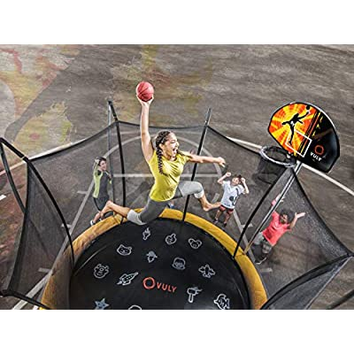Vuly Basketball Hoop and Ball Set Compatible Trampolines 360 Swingsets: Sports & Outdoors