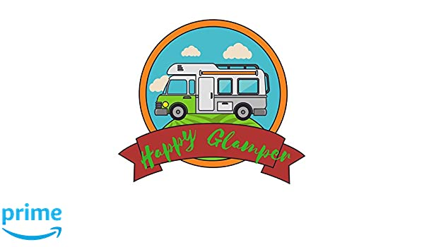 Amazon HAPPY GLAMPER Glamping Vintage Camper Vinyl Sticker Waterproof PVC DECAL RV CAMPING Window Decor Arts Crafts Sewing