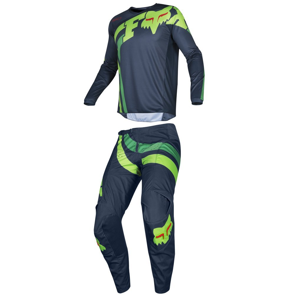 Fox Racing 2019 180 COTA Jersey and Pants Combo Offroad Gear Set Adult Mens Navy Large Jersey/Pants 36W