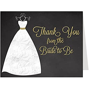 Amazon Com Bridal Shower Thank You Cards Mint Green Chalkboard