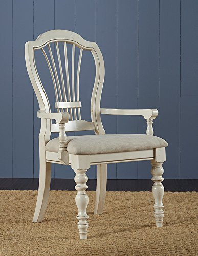 Hillsdale Pine Island Wheat Back Arm Chair, Set of 2