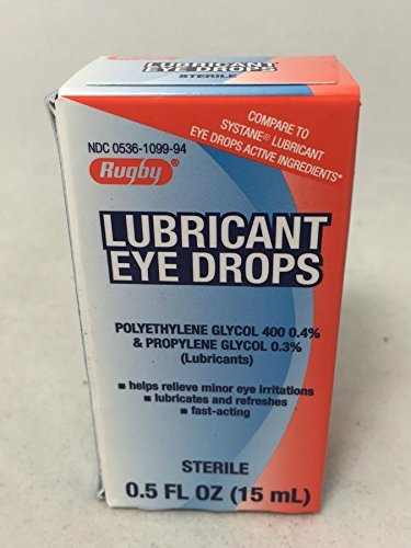Rugby Lubricant Eye Drops 15ML per Bottle (2 Pack)