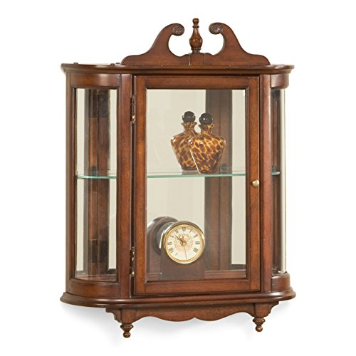 Wall Curio w Curved Glass - Butler Wall Curio