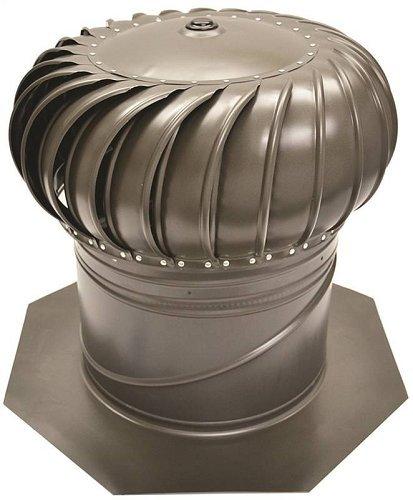 Turbine Ventilator - Ll Building Products Aic14ww Internally Braced Turbine Ventilator, 14