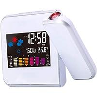 PETSOLA Digitale projectiewekker, projectieklok, led-projectie, wekker, tafelwekker met sluimerfunctie, temperatuur en…