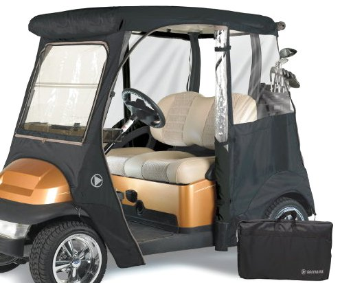 GreenLine Club Car Precedent 2 Passenger Drivable Golf Cart Enclosure - Jet Black