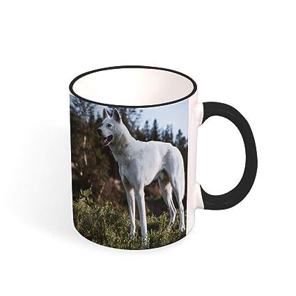 PYN Husky Gift Mugs Funny Coffee Mug 11oz Colourful Handle