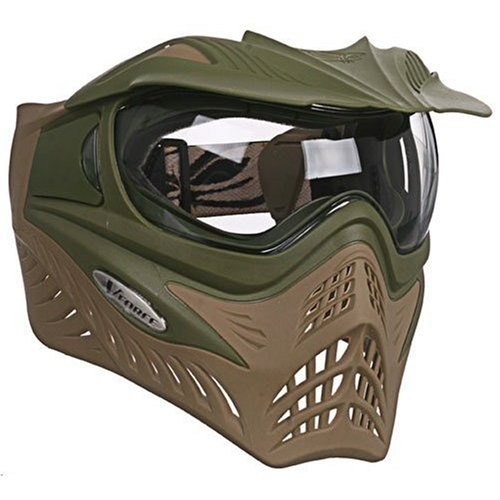 Paintball Olive Mask (VFORCE GRILL Paintball Thermal Mask - Dual Olive Drab Desert Tan)