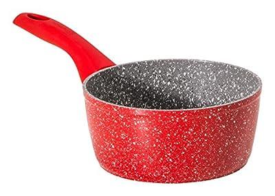 "Bialetti Y0C8C10160 Madame Rubino Induction Universal Saute Pan, 6.3"", Grey/Red"
