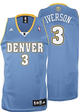 Allen Iverson Jersey  adidas Blue Swingman  3 Denver Nuggets Jersey   Amazon.ca  Sports   Outdoors e1d22f7d6d99