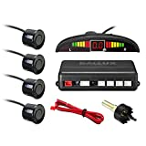 LED Display parking sensor,Car Reverse Backup Radar System,LED Display+Buzzer Alert+4 Black Color parking sensors for Universal Auto Vehicle For Sale