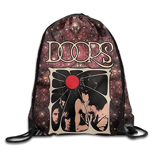 Music The Doors Jim Morrison Gym Bag Drawstring Sport Bag One Size White