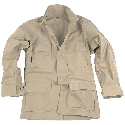 Teesar Men's BDU Shirt Ripstop Khaki