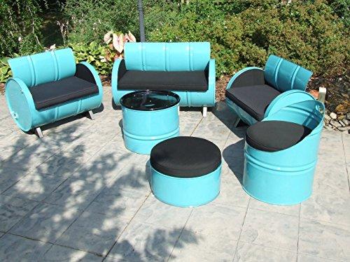 Drum Works Furniture 6 Piece Tucson Indoor/Outdoor Garden Patio Conversation Set (Patio Outdoor Tucson Furniture)