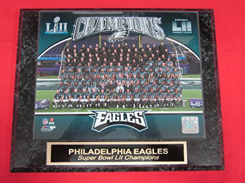 Eagles SUPER BOWL LII Champions Collector Plaque #3 w/8x10 TEAM (Champions 3 Photo)