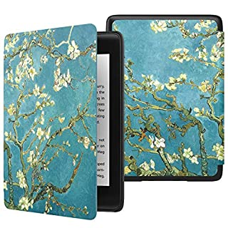 MoKo Case Fits Kindle Paperwhite (10th Generation, 2018 Releases), Thinnest Lightest Smart Shell Cover with Auto Wake/Sleep for Amazon Kindle Paperwhite 2018 E-Reader - Almond Blossom