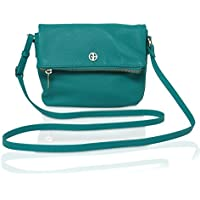Giani Bernini 7059 Womens Leather Pebbled Mini Crossbody (Turquoise)