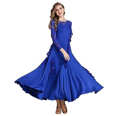 1f49a500f3853 YTS Royal Blue Four Seasons Dance Dress, Adult Women's Wear (Color : Blue,