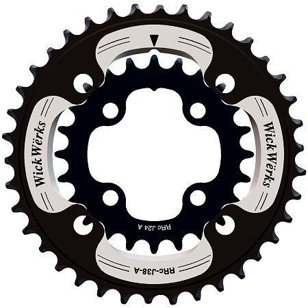 WickWerks 36/22t 104/64 BCD Mountain Double Chainrings by WickWerks