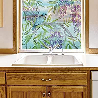 Original Creation, Lovely Creative Design, Window Film for Privacy Story Plants Large Decorative Glass Sticker for Office Home Meeting Room Bathroom Self Adhesive Anti UV Removable Flims