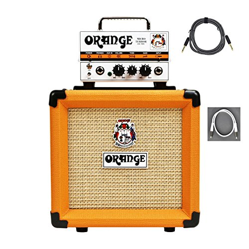 Hybrid Guitar Amps (Orange MT20 PPC108 Bundle Micro Terror Tube Hybrid Guitar Amp Head & Cabinet)