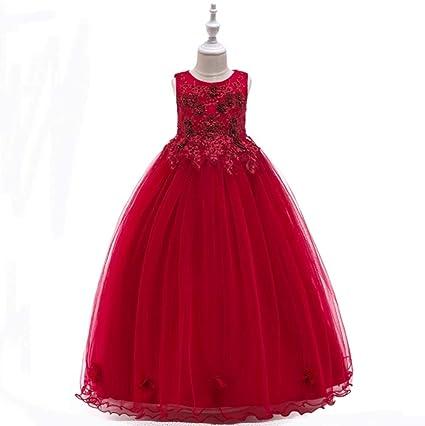 475223a40 Amazon.com   NOMSOCR Kids Lace Flower Costume Dress Girl Pageant ...