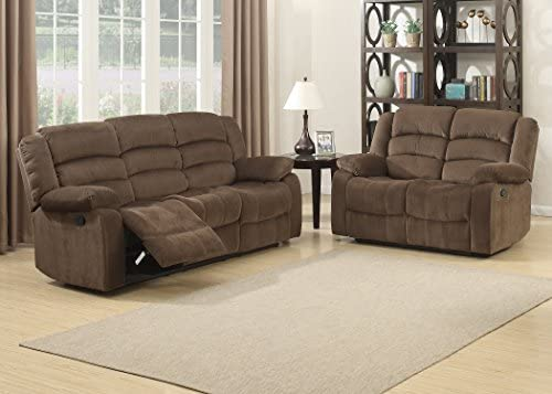 Christies Home Living 2 Piece Bill Contemporary Reclining Room Set, Brown