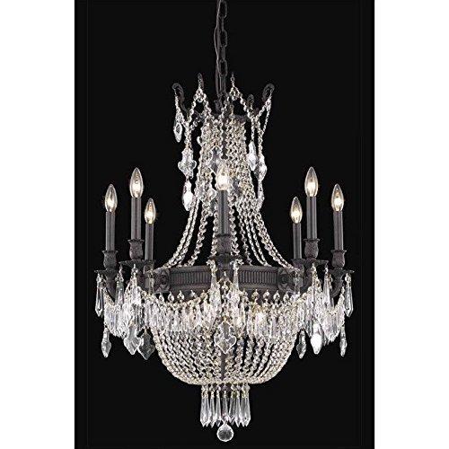 Esperanza 12 Light - Elegant Lighting 9312D26DB/SS Esperanza Collection 12-Light Hanging Fixture with Swarovski Strass/Elements Crystals, Dark Bronze Finish