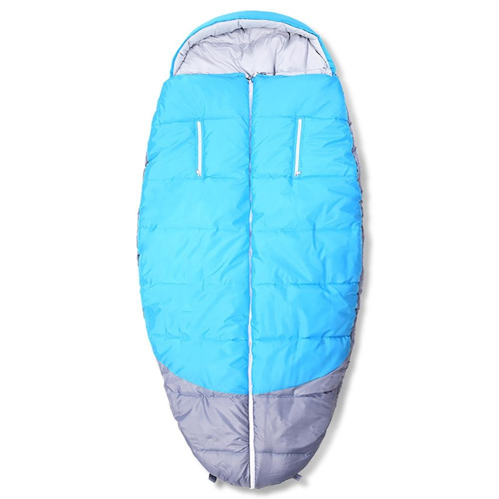 MIAO Adult Indoor and Outdoor Travel Camping Single Autumn and Winter Portable Cotton Fat Sleeping Bag