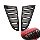 mustang gt carbon fiber - Dewhel Pair Side Quarter Window Louvers Scoops Gloss Carbon Fiber GT 5 Vents Style LH RH For Ford Mustang 2015 2016 2017