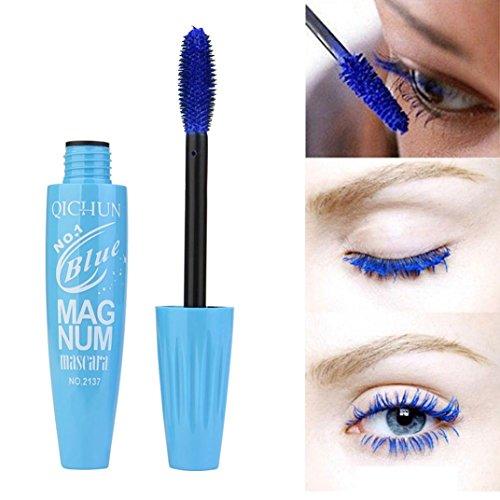 LiPing Shiny Black Mascara Waterproof Makeup& Long Lasting,Easy to Apply for Thickening & Lengthening Lashes Fiber Mascara Eye Lashes (Blue) ()