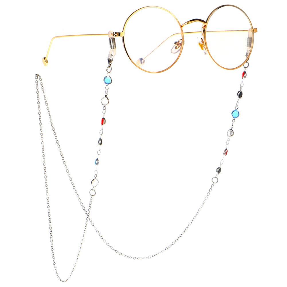 Kylewo 1pc Vendas para Gafas y Cadenas de Mujer Gafas para Gafas de Lectura Gafas Correa para Mujer Gafas Gafas de Lectura Cadena con Cuentas vac/ías Cadena para Gafas