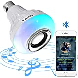 Texsens Bluetooth Light Bulb Speaker Smart LED Music Generation II with Updated Remote Control Flashing Goes