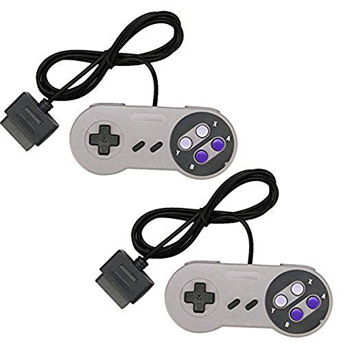 Dealstock Super Nintendo SNES Controller Pads 3rd Party Gamepad for SNES