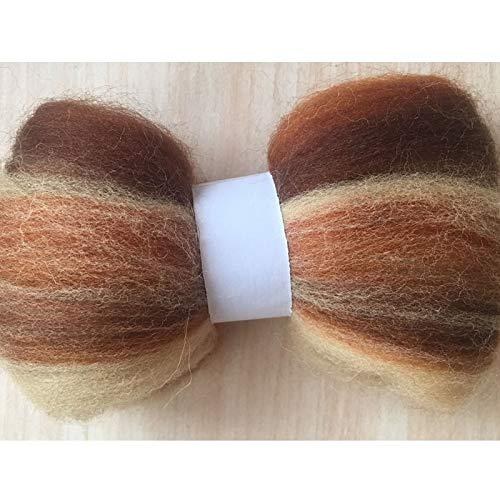 Maslin 100g 150g 200g 300g 500g 50g/Bag Wool Fiber for Felting African Fabrics Mix Color Wool Roving Doll Needlework Felt DIY - (Color: 500g)