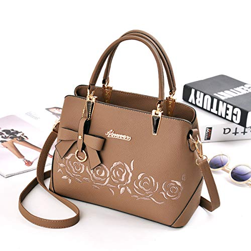 da Maniglia Borsetta Studente Pu pelle Tote Shopping donnaExull in Borsa a Smart Bag Shopper Spalla Khaki tracolla Top 1404 35jAL4R