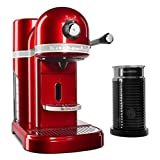 Espresso Machine - Capsule with Milk Frother - Red